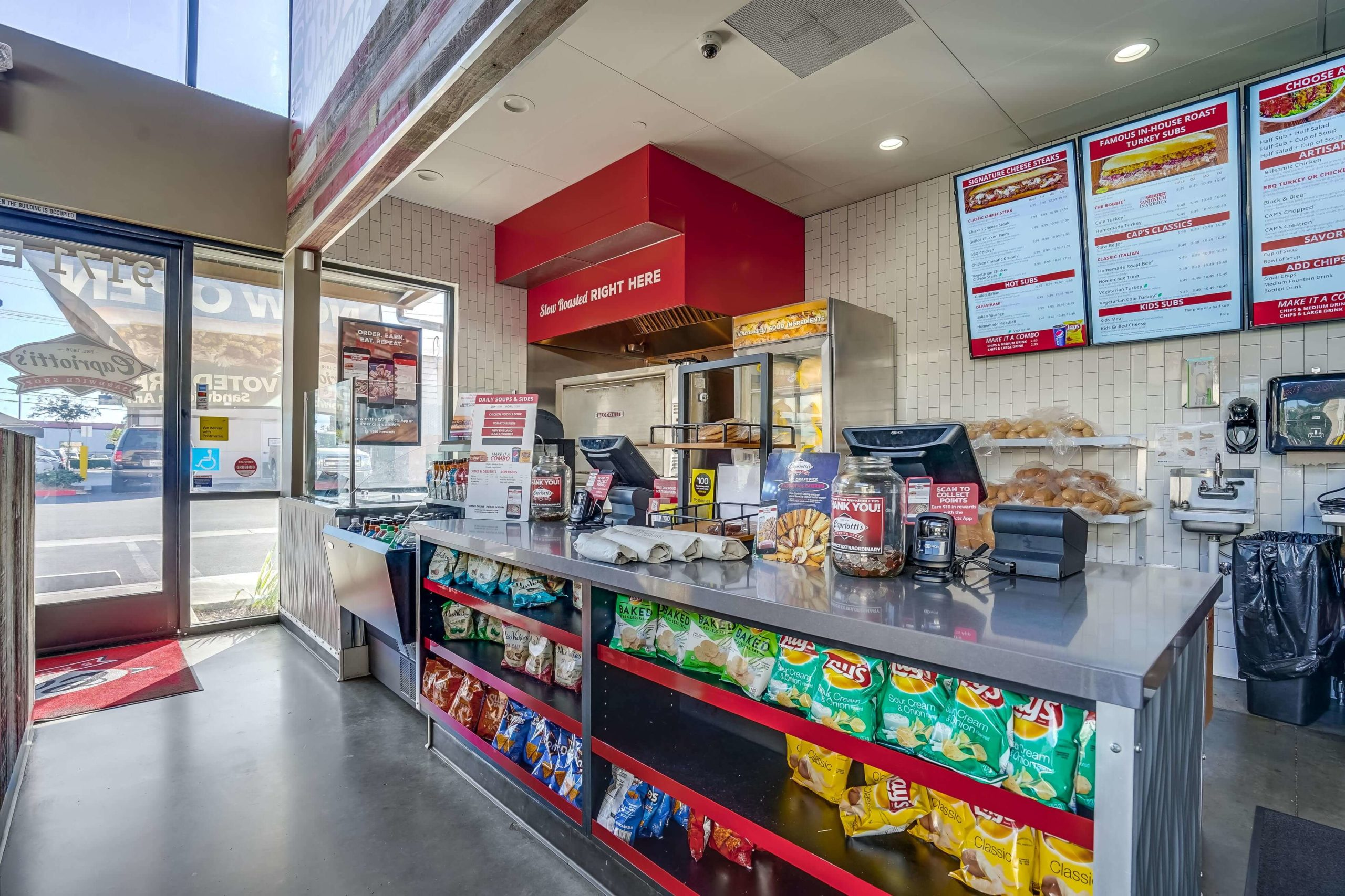 Ordering counter inside of Capriotti's in Chatsworth, CA