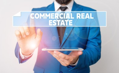 a business man researching commercial real estate