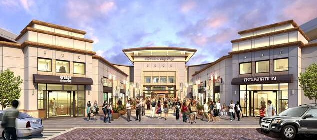 Rendering of a shopping mall