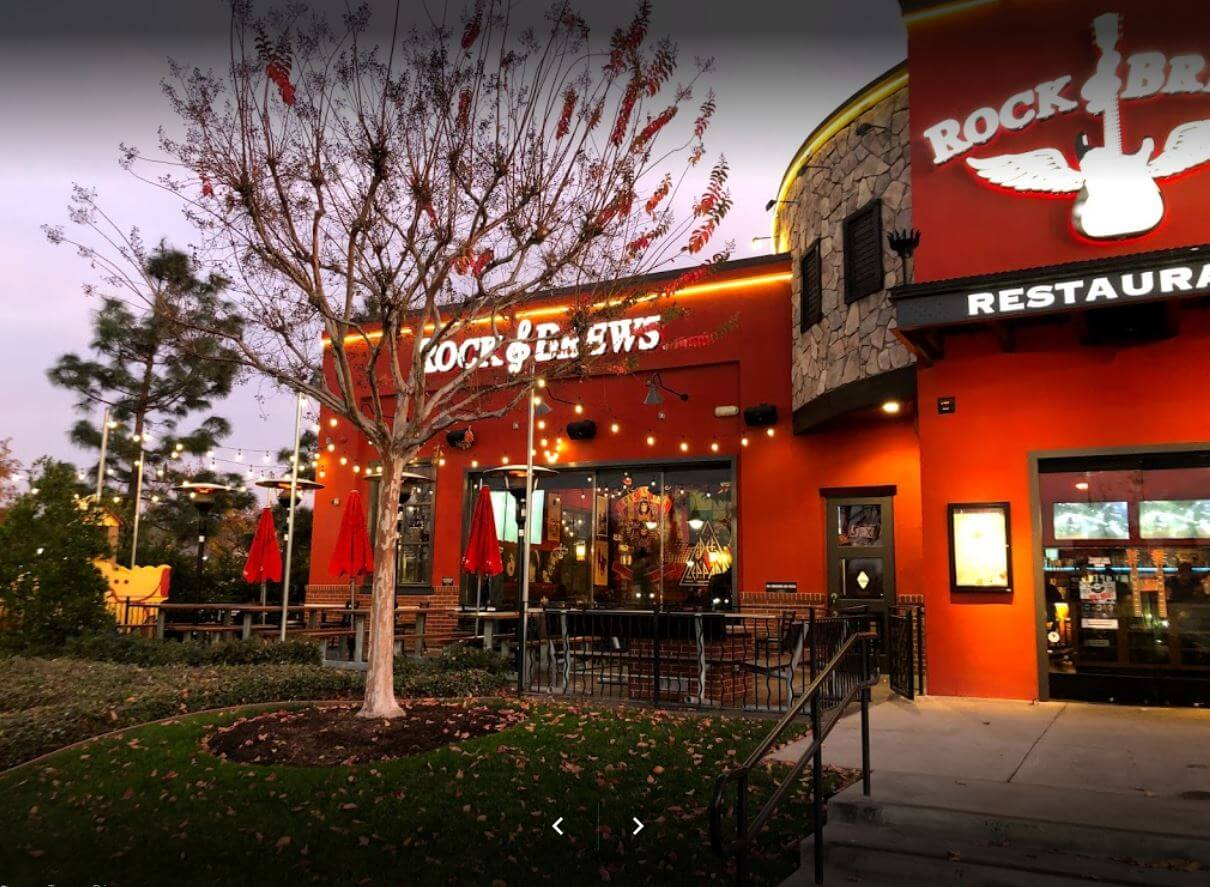 Outside of Rock and Brews in Corona CA