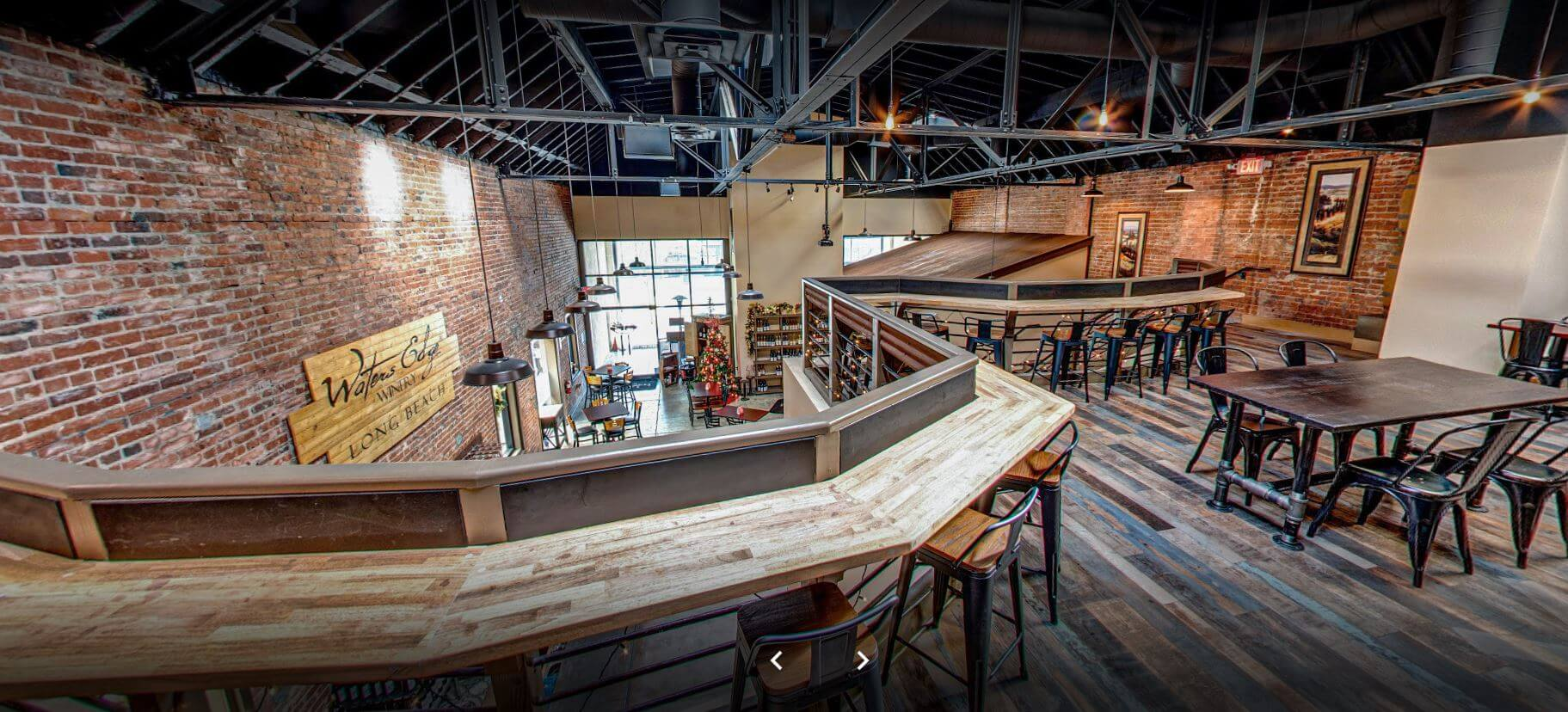 Second story view of Shoreline Cellars