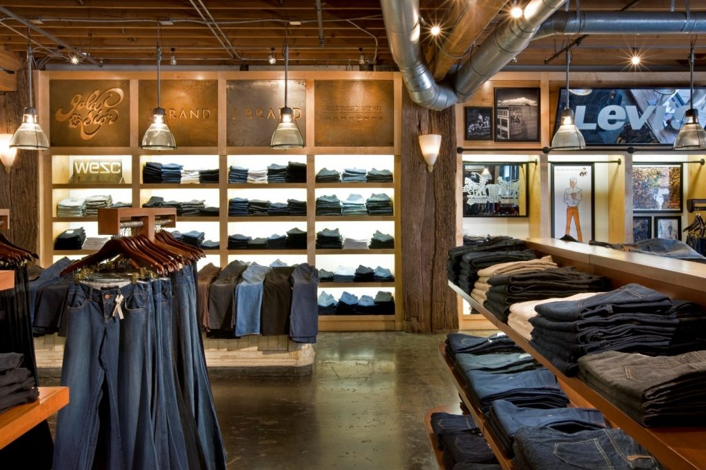 Inside of Apparel Store