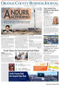 Orange County Business Journal Front Page