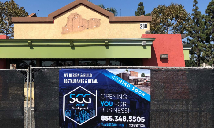 Del Taco Being renovated into a new restaurant